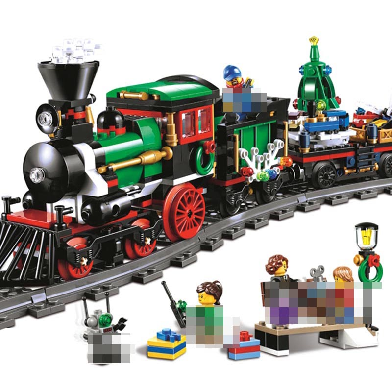36001 Model building kits compatible with legoing city The Christmas Winter Holiday Train 3D blocks model building toy 10254 lepin15003 2859pcs city series the town hall model building kits blocks kid toy gift compatible with 10224