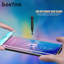 9D UV Liquid Curved Full Glue Tempered Glass For Samsung Galaxy S8 S9 Plus Note 8 9 Case Cover Screen Protector
