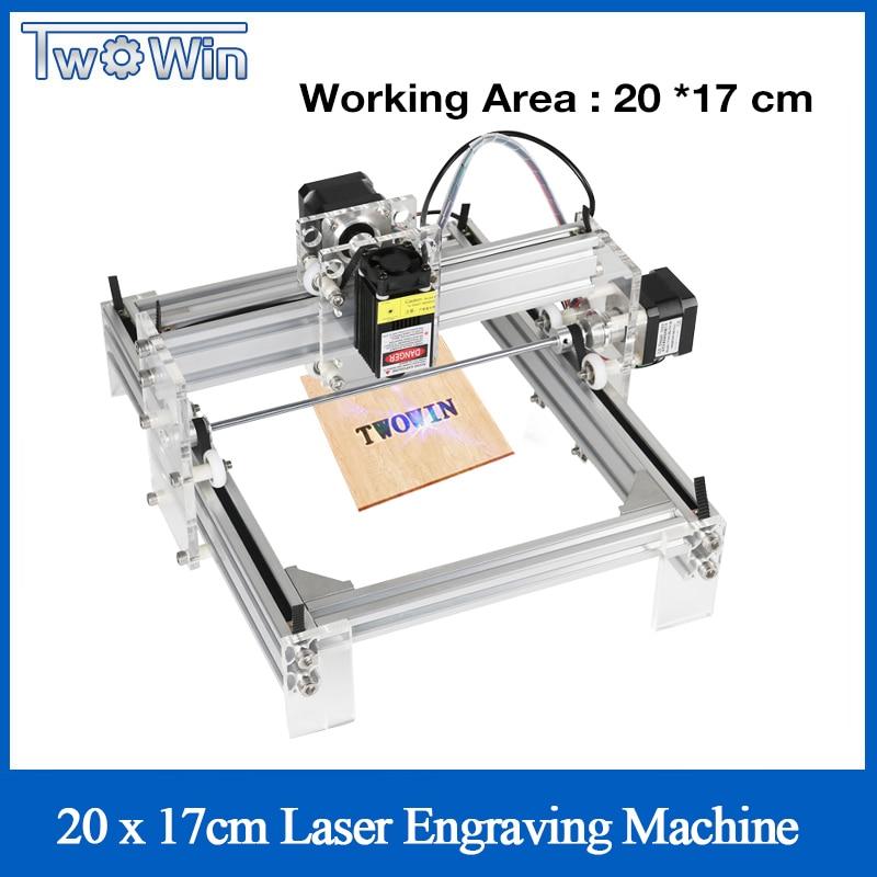 Twowin 500mw/2500mw/5500MW Desktop DIY Violet Laser Engraving Machine Picture CNC Printer, Working Area 20cmx17cm CNC Router|cnc router|router cnccnc engraving router - AliExpress