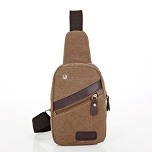 2016 new canvas men's chest bag fashion shoulder Messenger bag casual fashion phones bags and  canvas storage bag  zs0081
