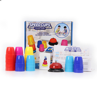 Reikirc classic card games speed cups, colors cards game family children board games indoor games with english instructions