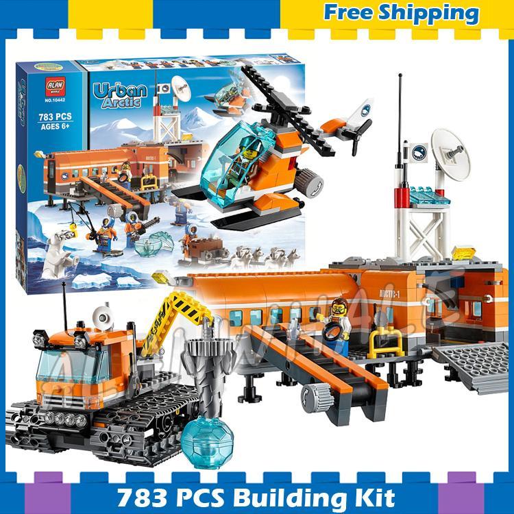 783 шт. город Arctic Base Camp Снежная Explorer станции 10442 модель строительные блоки собрать горячие подарки устанавливает Совместимо с LEGO