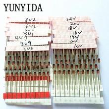 14values* 10 шт. = 140 шт. 1 Вт туннельный Диод комплект DO-41 3,3 V-30 V набор компонентов «сделай сам»