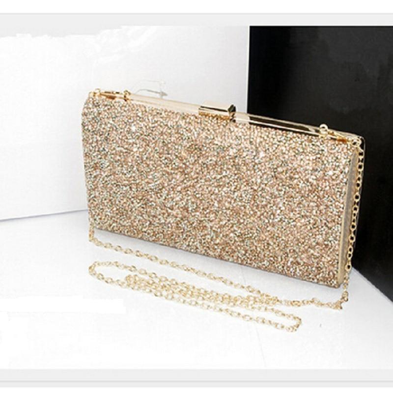 Gold Silver Crystal Diamante Effect Evening Clutch Wedding ...  Formal Gold Clutches