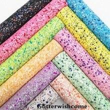 Glitterwishcome 21X29 см A4 Размеры синтетическая кожа, устойчивый блеск кожи с стрейч подкладка кожа листов для Луки, GM058A