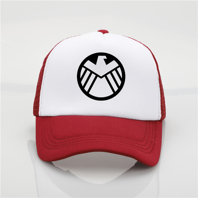 f9749e8cd05 ... snapback hat new sb2qptmvu 1a750 a664b  sale fashion hat marvel agents  of s.h.i.e.l.d. shield printing net cap baseball cap men women summer