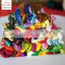 Golden Panno DIY DMC 726-775 вышивка нитью нитки 10 шт./лот 1,2 м Набор для вышивки крестом наборы для вышивки крестом 11,12
