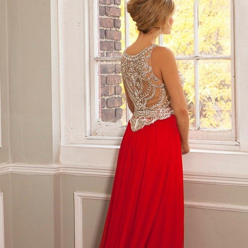 9d95ad473d Vestidos de fiesta longo 2015 Vestidos largos de noche rojo una línea de lujo  moldeado cristalino del vestido Formal robe de soirée Vestidos de noche en  ...