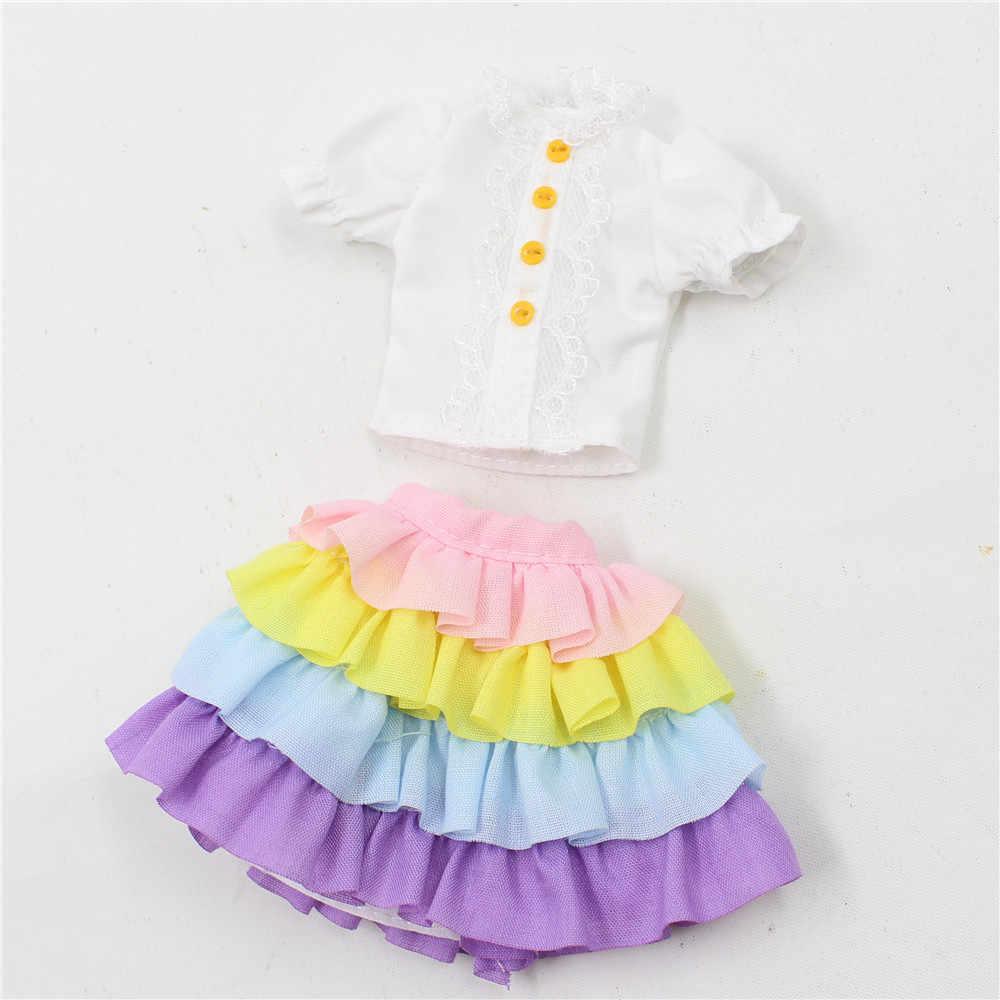 Одежда для 1/6 Блит 2 шт. юбка и белая рубашка