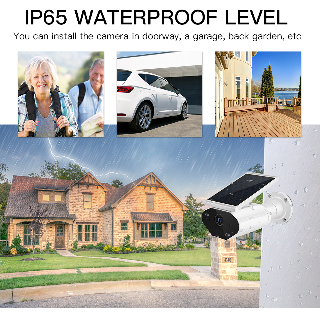Image 5 - FREDI 1080P Solar Low Power Wireless IP Camera WiFi Waterproof Security Bullet Camera IR Night Vision Surveillance CCTV Camera-in Surveillance Cameras from Security & Protection