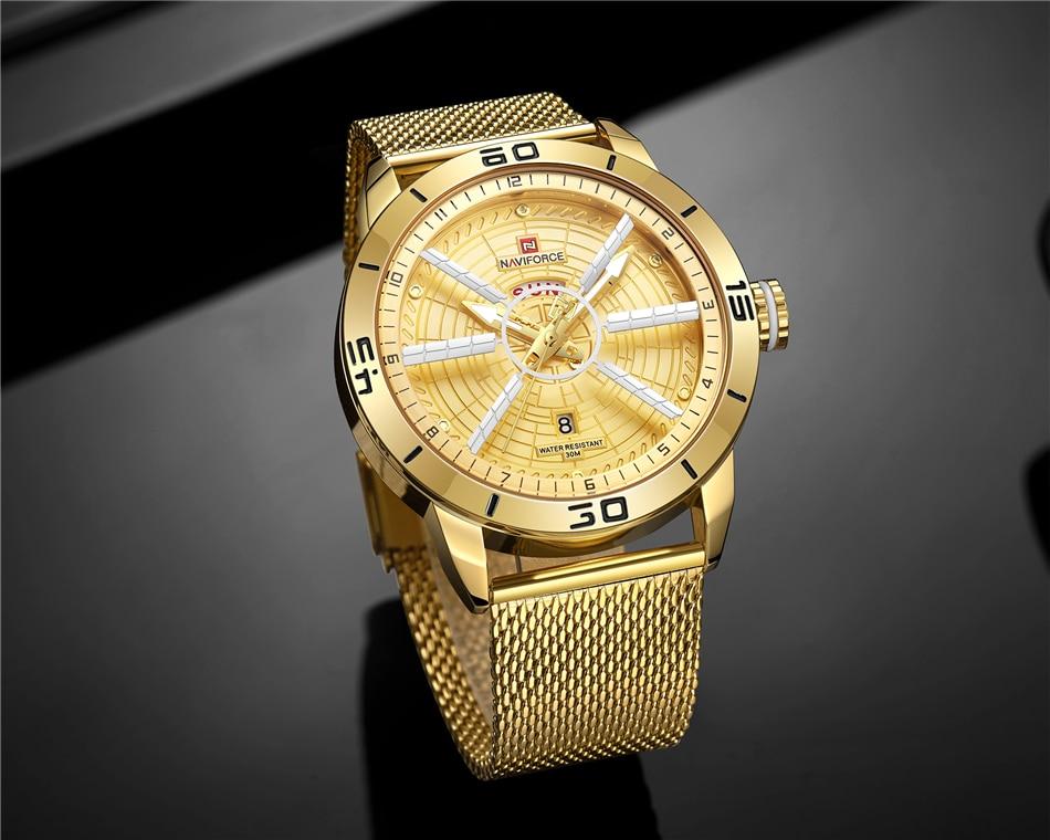 NAVIFORCE Mens Watches Top Brand Luxury Quartz Watch Men Full Steel Men Watch Sport Fashion Business Watches Relogio Masculino 33