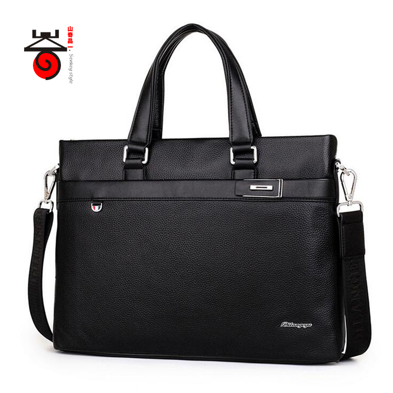 Senkey style Men Business Briefcase Genuine Leather Handbags Luxury Designer Laptop Bag Men Messenger Bag Crossbody Shoulder Bag
