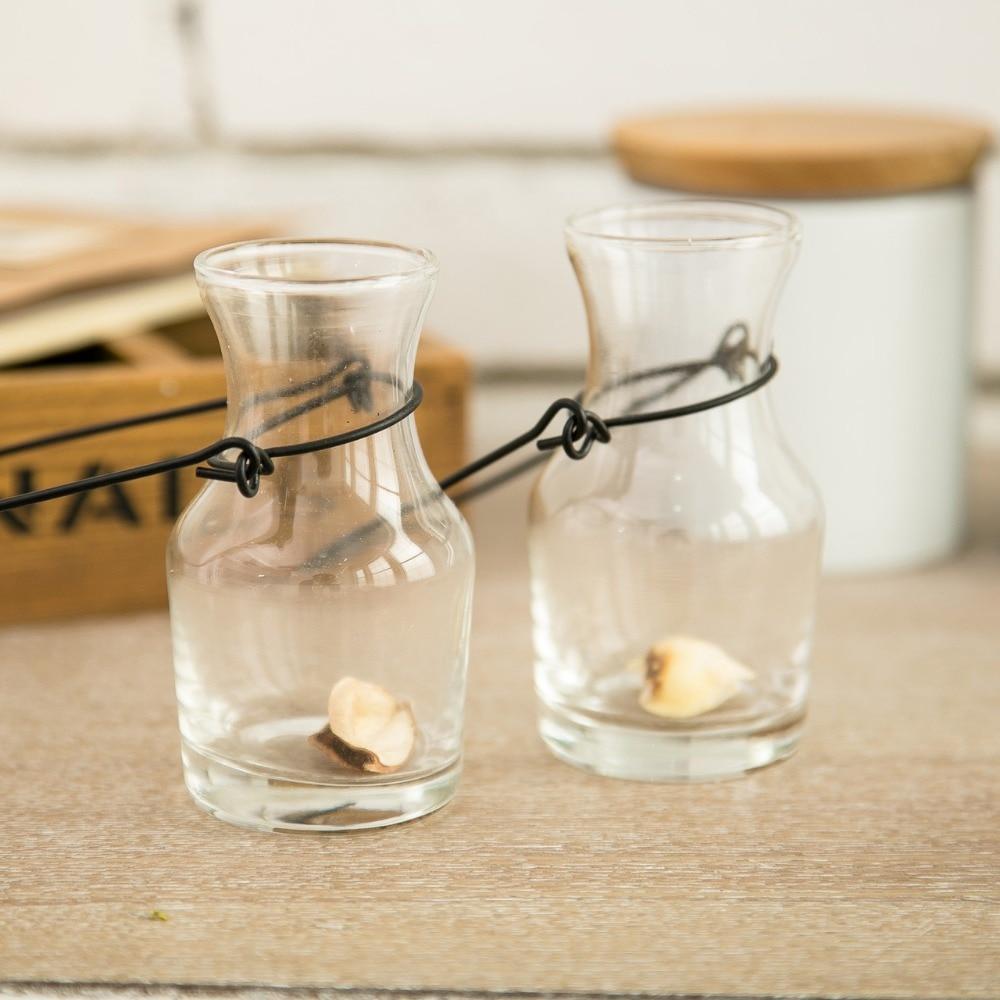 2 шт./лот Новый keyama горшок-образный провод висит стекла гидропоники Desktop декоративные вазы для цветов для девочек подарок домашний сад украш...