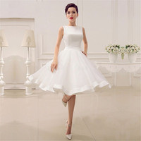 White Mini Short Graduation Dresses 2017 A Line Knee Length Organza Homecoming Dresses With Bow Party