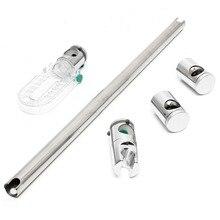 Kit de ducha Ajustable Elevador Carril de Deslizamiento Bar Kit de Soporte de Tubo de Cabeza Redonda Cromo