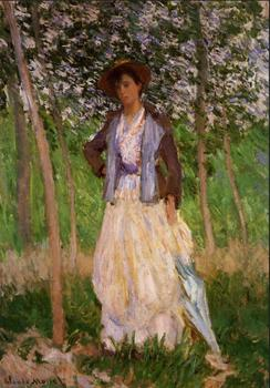 High quality Oil painting Canvas Reproductions The Stroller (Suzanne Hoschede) (1887) By Claude Monet hand painted