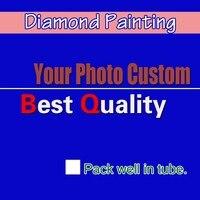 DIY PHOTO CUSTOM Diamond Painting Picture of Rhinestones Diamond Embroidery Beadwork Cross Stitch 5D Home Decoration Full round
