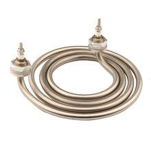 Isuotua elemento de aquecimento elétrico 4 anéis para barril, 220v 2500w aquecedor, bobina de ancake de aço inoxidável, elemento de aquecimento de água de 2 pinos