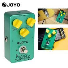 Joyo JF-01 Vintage Overdrive Full Sound Guitar Effect Pedal Box with True Bypass for Classic Tube-screamer Accessories