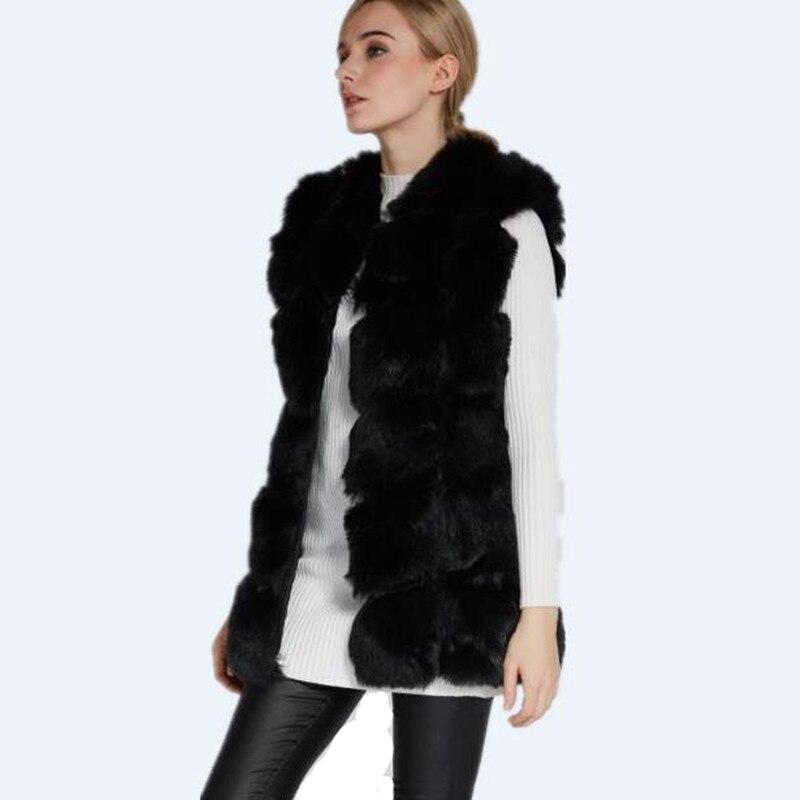 Fake pelz mantel schwarz