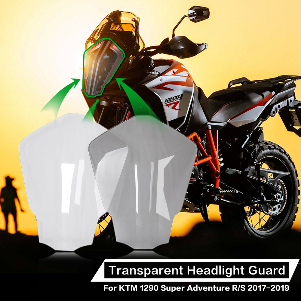 ABS Headlight Lens Cover Shield Protector For Suzuki GSXR 1000 2017-2018 Clear