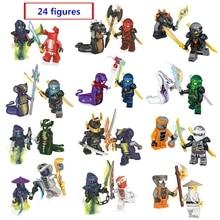 Новый ninjago 24 цифры/набор ниндзя герои строительные блоки Кай Джей Cole Zane Ллойд с Книги об оружии совместимые с лего лучший подарок
