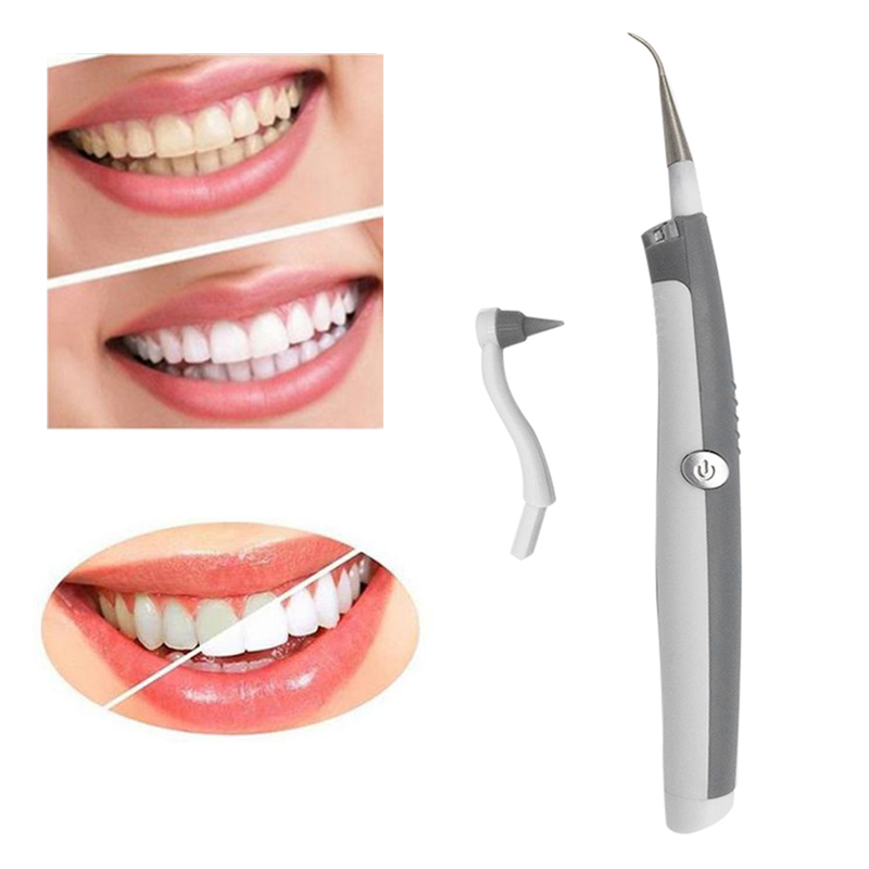 Oral Hygiene Electric Sonic Tooth Stain Eraser Plaque Remover Dental Cleaning Tool Kit Tooth Care Oral Cleaning Tool new personal care led oral teeth clean tool kits dental hygeine explorer dental mirror plaque remove tooth stain eraser