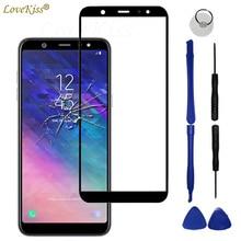 Передняя Сенсорная панель A6 + 2018 для Samsung Galaxy A6 Plus A6Plus 2018 A600 A605, сенсорный экран, ЖК дисплей, стеклянная крышка