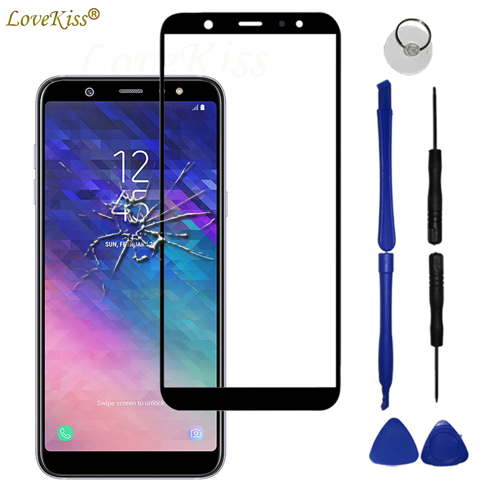 A6 A6+ 2018 Touchscreen Front Panel For Samsung Galaxy A6 Plus A6Plus 2018 A600 A605 Touch Screen Sensor LCD Display Glass Cover