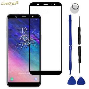 Image 1 - A6 A6 + 2018 écran tactile panneau avant pour Samsung Galaxy A6 Plus A6Plus 2018 A600 A605 capteur décran tactile LCD écran couvercle en verre