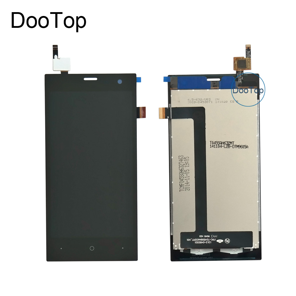 test ok Hot sale 4.5 inch For Highscreen Zera S Rev.S LCD Display Screen With Touch Panel Digitizer assembly