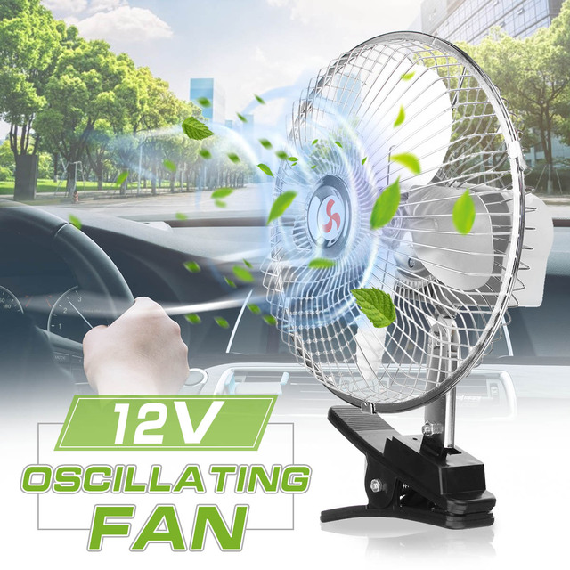 8 Inch 12v Electric Portable Auto Truck Car Cooling Fan With Cigarette Lighter Usb