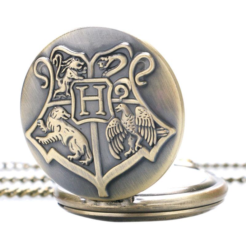 Vintage Retro Harry Shield School of Witchcraft Wizardry Brons Fickur - Fickur - Foto 4