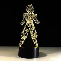 Dragon Ball Super Son Goku Kakarotto 3D Table Lamp Luminaria LED Night Lights Creative Child Kid