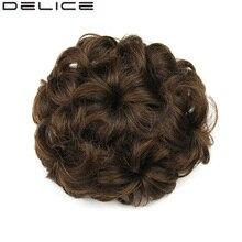 [DELICE] Диаметр 12 см Drawstring Цветочные женские Фигурные Синтетические Волосы Шиньон, чистый Цвет Блондинка