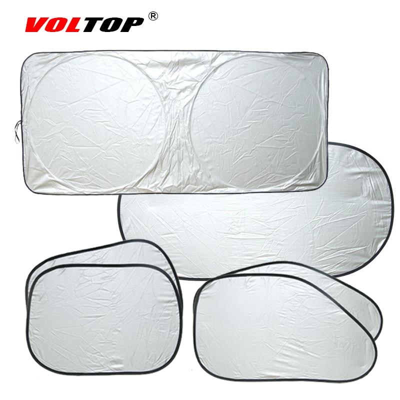 6pcs/1set Car Curtains Shade Block Auto Side Window Glasses Sunshades Front Rear Windshields Sun Visor Film Cloth Anti Sun Cover