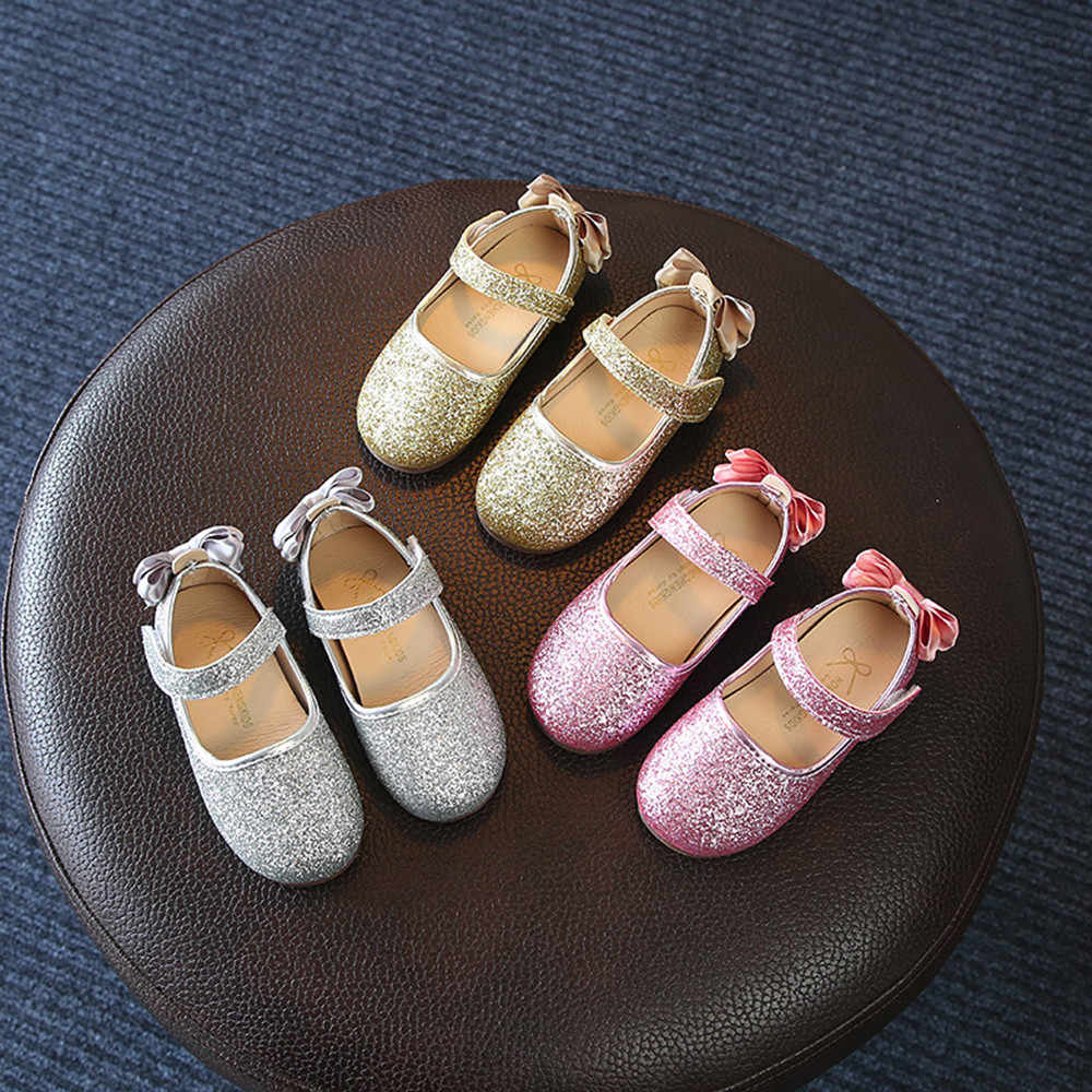 Girls Shoes Casual Fashion Sneaker For Party And Wedding Flower Bling Sequins Princess Shoes Children Kids Single Casual Shoes