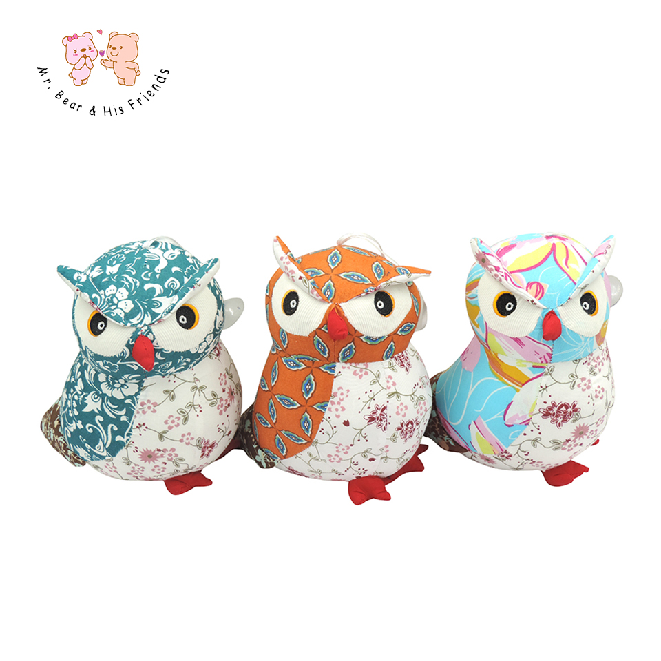 Stuffed Toy Plush Doll Lovely Owl Shaped Perfect Decorative Pillow Cute Owls Dolls Kids Birthday Presents 3 Colors Small size 1pc 50 85cm 3 colors cute lying down french bulldog plush stuffed toy doll model soft cotton dog pillows baby kids birthday gift