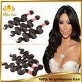 Бразильские волна девственница теле 3 шт. девственные бразильские волосы ткать пучки, Дешевые выдвижение человеческих волос мягкой бразильский волна