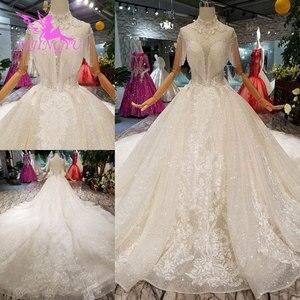 Image 2 - Простое свадебное платье AIJINGYU, свадебное длинное белое фольклорное платье в стиле бохо, винтажное свадебное платье, роскошное