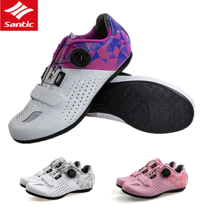 все цены на Santic Tour De France Road Bike Shoes Women Non-locking Cycling Shoes All Terrain Breathable Bicycle Shoes Sapatilha Ciclismo онлайн
