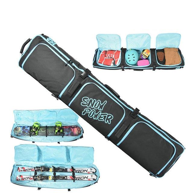 2018 Skiing Snowboard Bag 106-180cm Scratch-Resistant Monoboard Plate Protective Case Dumpling Skiing Board Bag large capacity