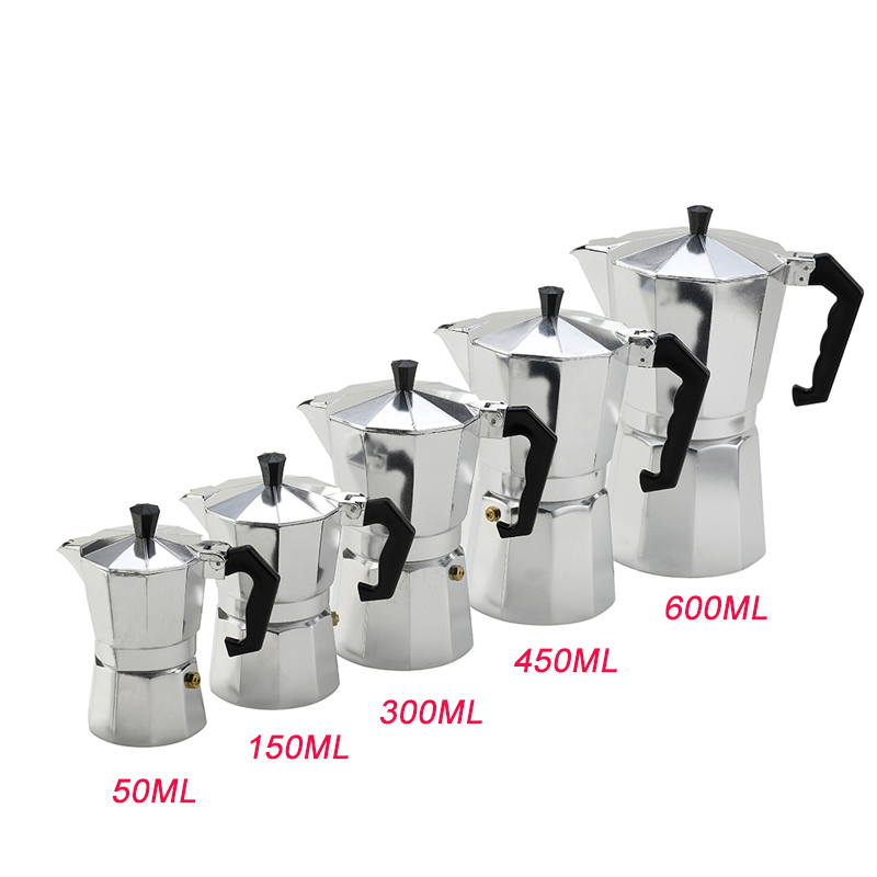 Coffee Maker Aluminum Mocha Espresso Percolator Pot Coffee Maker Moka Pot 1cup/3cup/6cup/9cup/12cup Stovetop Coffee Maker