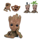 New Resin Aquarium Decoration Baby Groot Figure Aquarium Plant Bonsai Pot Decor Fish Tank Ornament Stone Cave For Fish Shrimp