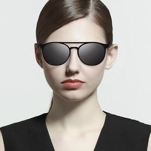 Image 3 - VEITHDIA Unisex Stainless Steel Sunglasses Polarized UV400 Mens Round Vintage Sun Glasses Male Eyewear Accessories For Men 3900