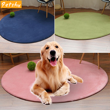 Petshy Round Dog Bed Mat Pet CushionComfortable Easy Clean Indoor Cats Pad Small Medium Large Pets Dogs Sleep Rest Beds Sofa