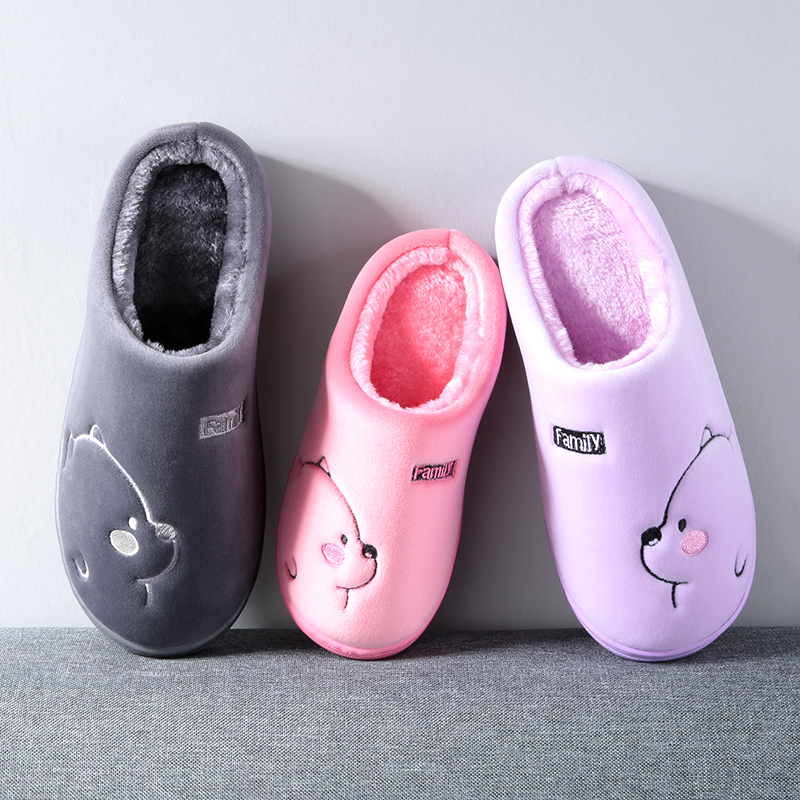 Cartoon Bear Winter Women Slippers Fashion Animal Home Fur Slippers Slip On Warm House Shoes Men Women Lovers Indoor Shoes 4