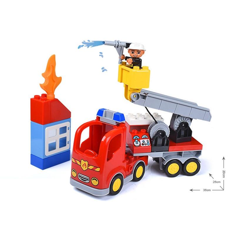 Gorock Diy Big Size City Fire Department Firemen Building