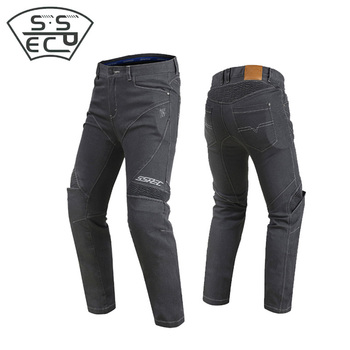 SSPEC men's motorcycle jeans pant Motocross Off-Road Riding pants protection equipment moto pants racing pants Elastic Trousers