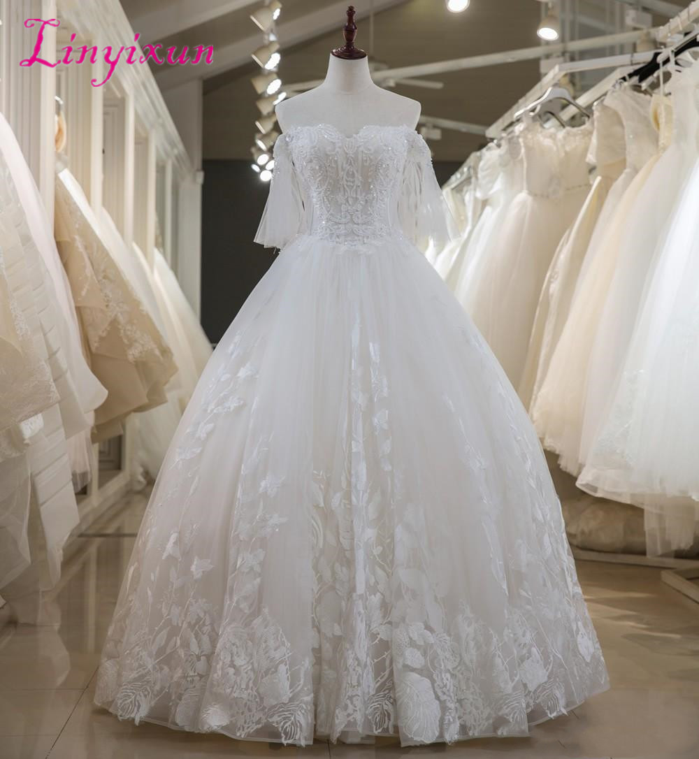 latest-a-line-wedding-dresses-lace-beaded (1)